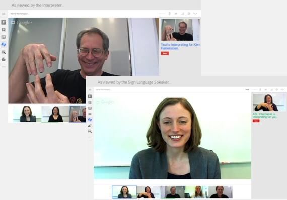 Accessibilità di Google Hangout