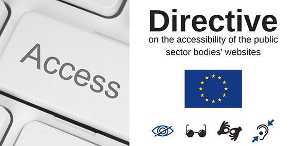 Alcune novità della Direttiva Europea sull'accessibilità dei siti web e delle app degli enti pubblici