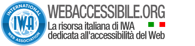Webaccessibile.org - La risorsa italiana di IWA dedicata all'accessibilità del Web