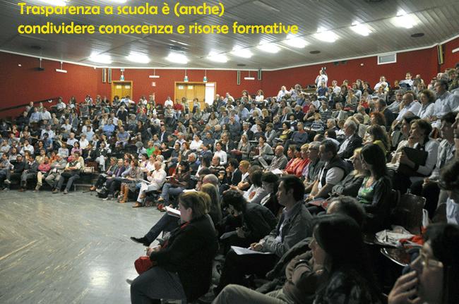 Trasparenza a scuola è (anche) condividere conoscenza e risorse formative