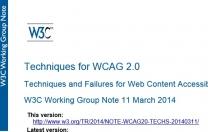 Aggiornamento tecniche e documenti di supporto WCAG 2.0