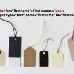 Un modulo web per tutti inizia dalle etichette (label)